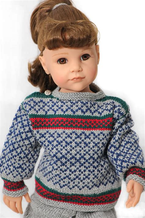 doll cardigan knitting pattern american doll sweater pattern