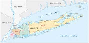 Map Of New York City And Long Island by Map Of New York