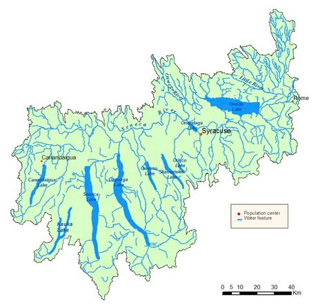 finger lakes ny map oswego river finger lakes watershed map nys dept of