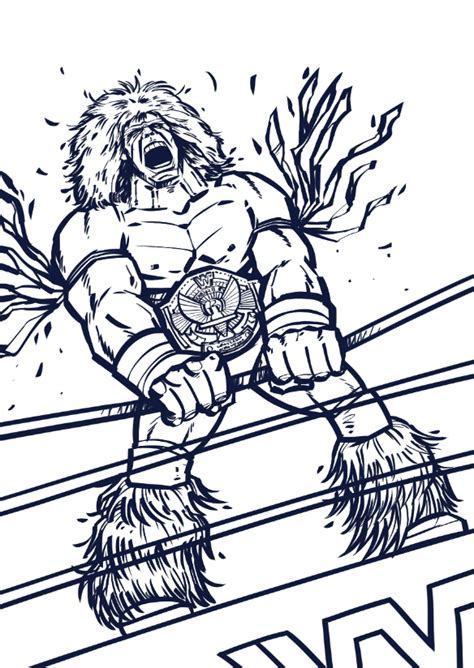ultimate warrior on behance