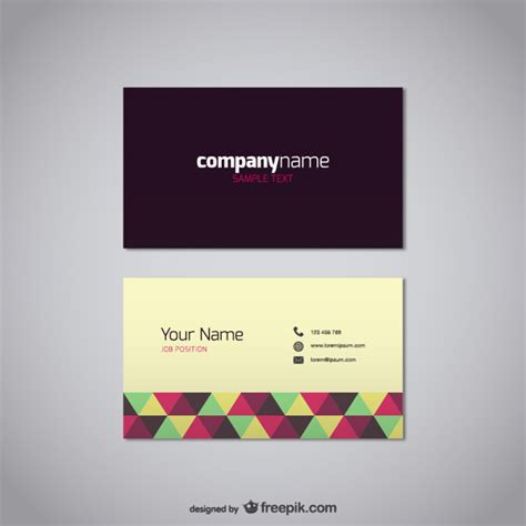 business card templates in vector polygonal business card vector free