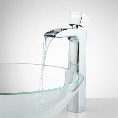 bathroom faucets waterfall corbin waterfall vessel faucet vessel sink faucets