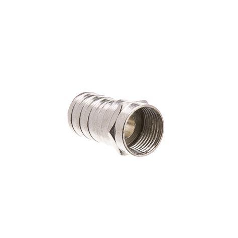 Connector Rg6 Ibarrel rg6 coaxial crimp on connector 1 2 inch barrel