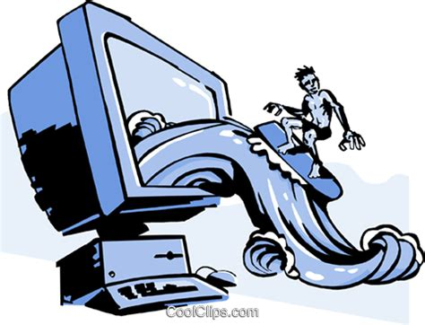 Surfing The Web Clipart
