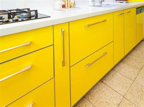bright yellow kitchen cabinets yellow kitchen cabinets pictures options tips ideas