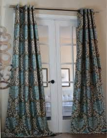 Teal Blue Curtains Drapes Milan Damask Smoky Teal 96 Inch Curtain Panel Contemporary Curtains By Overstock