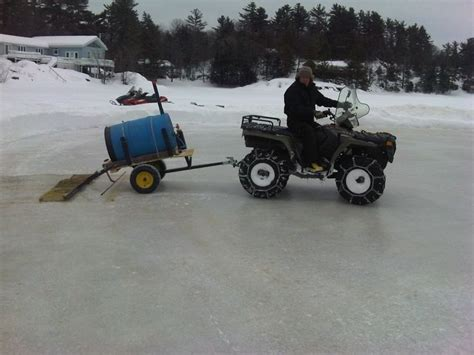backyard rink resurfacer homemade ice resurfacer the ultimate hockey rink