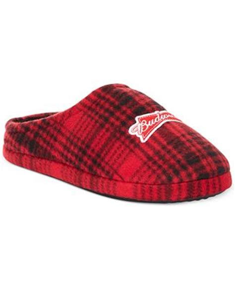 budweiser slippers concept one budweiser plaid fleece slippers pajamas