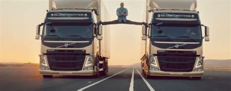 jean claude van damme stages split  volvo truck ad