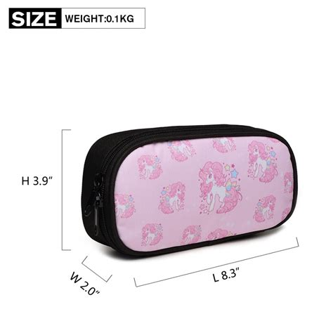 Printed Pencil Bag e1834 miss lulu unicorn printed pencil pink