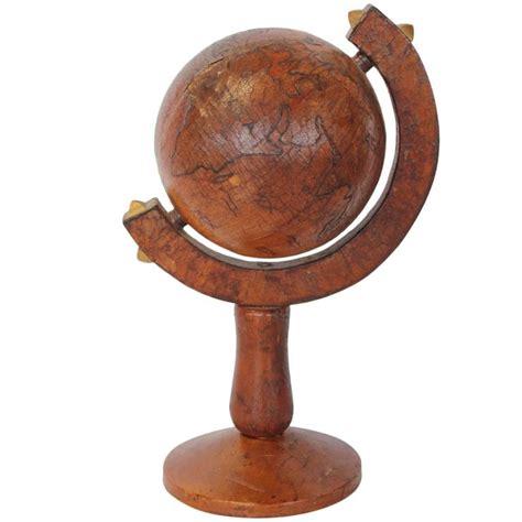 Decorative Globe by Italian Leather Decorative Desk World Globe For Sale At