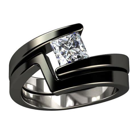 Black Titanium Ring Wedding by Ngagement Rings Finger Mens Engagement Rings Black