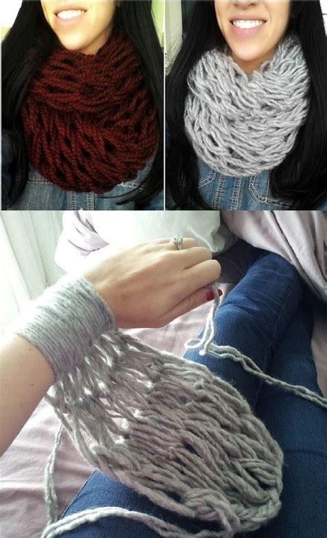 kurtz corner arm knitting arm knitting diy and infinity scarfs on