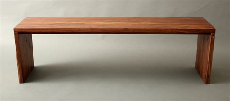 walnut bench mid century modern hallway entry gallery
