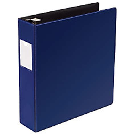 office depot brand heavy duty d ring 3 ring binders 3 navy