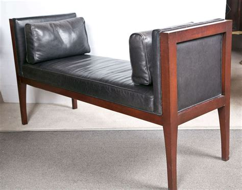 modern leather bench mid century modern leather bench by pearson at 1stdibs