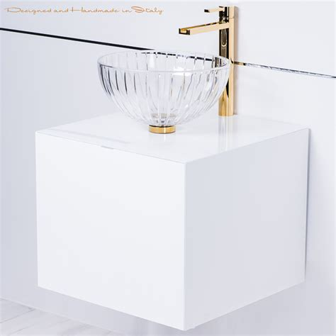 20 inch vanity sink combo italian 20 inch white lacquer bathroom vanity with crystal