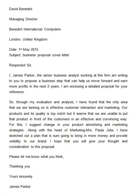template of business proposal letter 32 sle business proposal letters