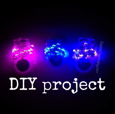 diy led light diy project lights led lights for light up clothing headpiece