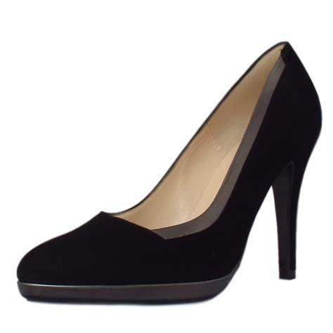 shoes black kaiser hetlin s high heel black suede court