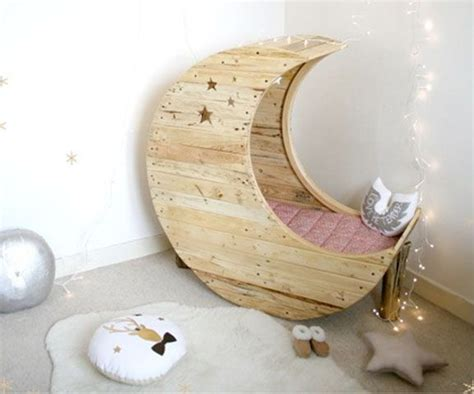 Cozy Baby Crib With Moon - if not a crib wouldn t this make a cozy corner