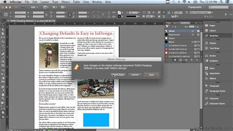indesign tutorial youtube cc adobe indesign cc tutorial changing defaults is so easy