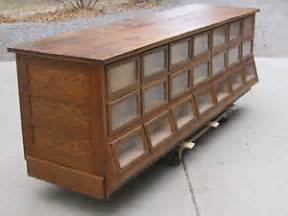 Antique Store Display Cabinet Antique Country Store Sherer Oak Seed Bean Or Candy