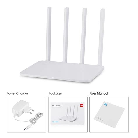 Original Xiaomi Mi Wifi Router 3 Ac1200 1167mbps 128mb With 4 Antenn kilimall original xiaomi mi wifi router 3 128mb rom 1167mbps 2 4 5ghz dual wifi with 4 antennas