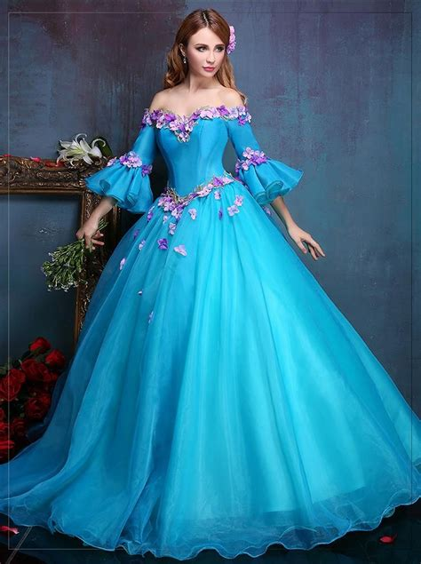 15 best medieval princess party images on pinterest 100 real royal embroidery blue flower ball gown medieval