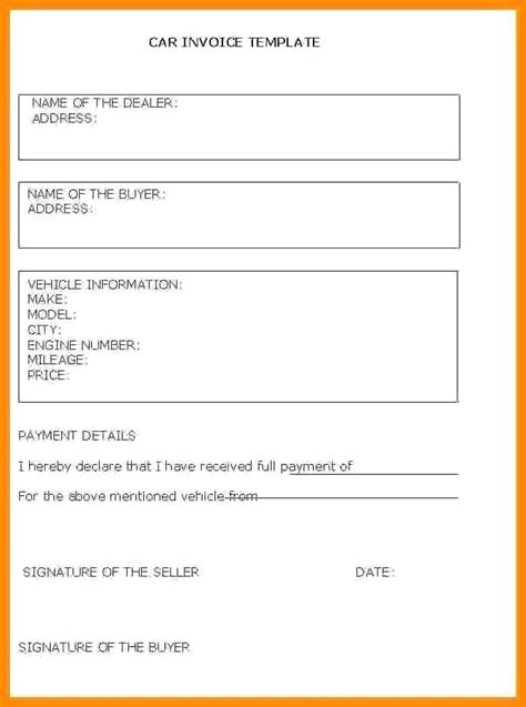 how to write a car receipt template receipt for selling car kinoroom club