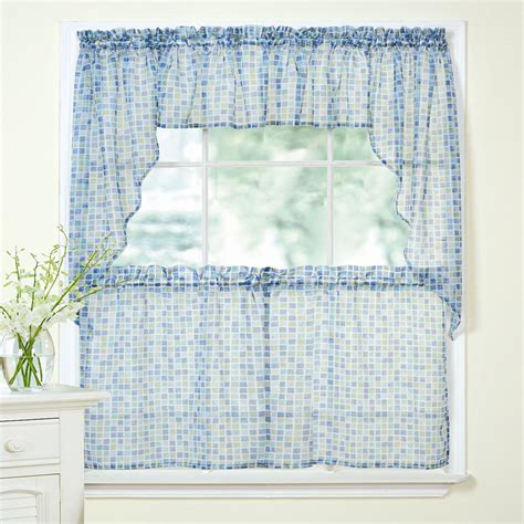 Blue Green Sheer Curtains Blue Green Sheer Curtains Free Shipping Processing Window Screen Curtain Sheer Curtains White
