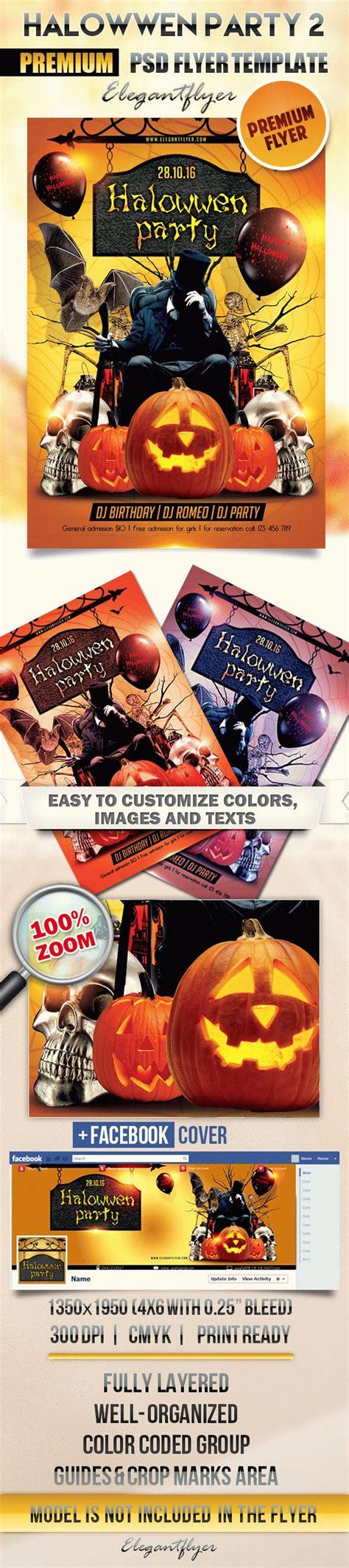 Halloween Party 2 Flyer Psd Template Facebook Cover By Elegantflyer Flyer Template Psd 2