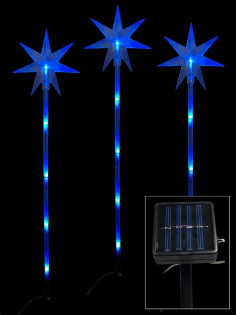 Stakes For Solar Lights 6 Blue Led Solar On Stakes 66cm