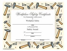 safety award certificate template a printable safety award certificate recognizing