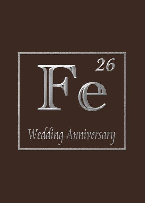 6th iron wedding anniversary, Expression of iron in its