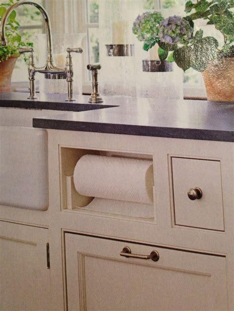 paper towel holder in cabinet kitchen ideas pinterest