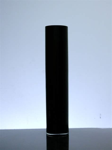 Black Glass Vases Wholesale by Pc524bl Baked Cylinder Glass Vase 5 Quot X 24 Quot 6 P C Black