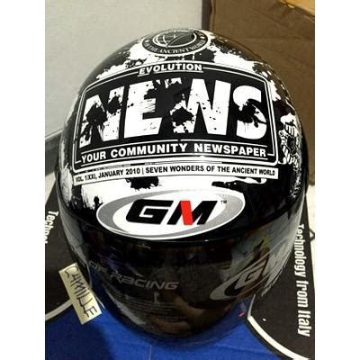 Helm Gm Evo News Black Murah kirim sore ini helm gm evo news black elevenia
