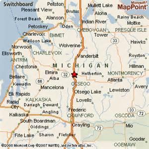 Gaylord Michigan Map by Gaylord Michigan