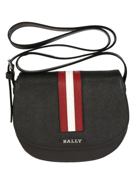 Bally Pocket Stripe Crossbody Bag Ori bally supra medium crossbody bag in black modesens