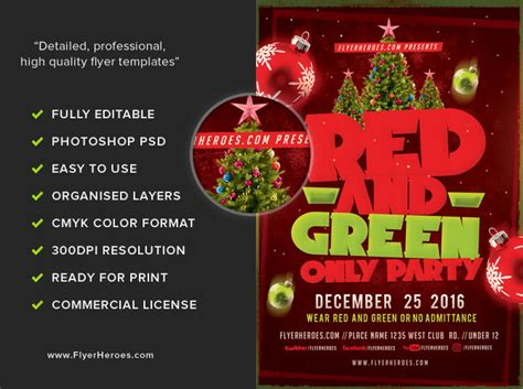 flyer template red red and green flyer template flyerheroes