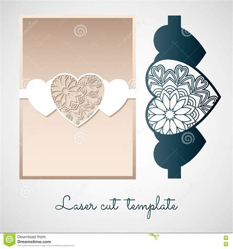 Openwork Paper Decor With Hearts Laser Cutting Template Stock Vector Image 79394884 Laser Cut L Template