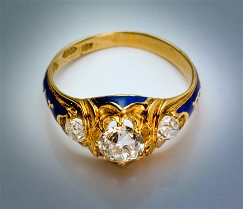 antique engagement ring 1851 three ring