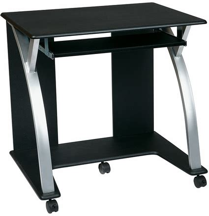 silver and black computer desk office black computer desk with silver accents sat117