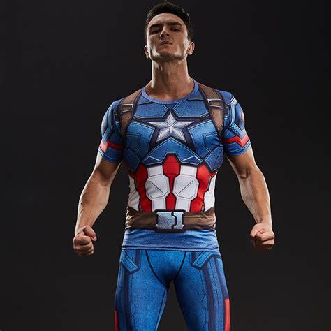 Kaos Marvel Captain Shield clothes picture more detailed picture about captain
