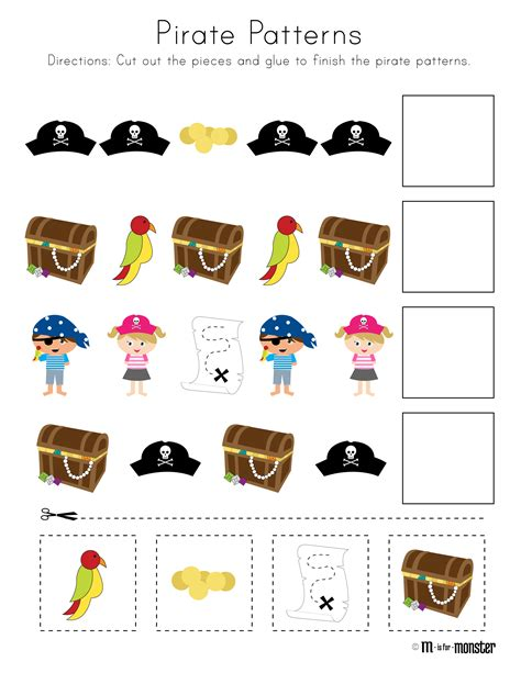 pirate printable activity sheets pirate week printable m is for monster
