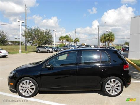 black volkswagen golf black 2012 volkswagen golf 4 door tdi exterior photo