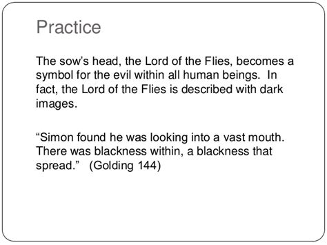 lord of the flies evil theme quotes using quotes in an essay