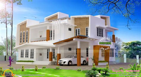kerala home design october 243 sq m modern contemporary house kerala home design