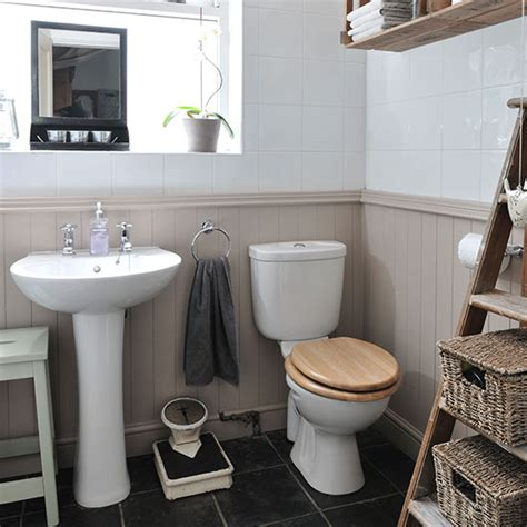 tongue and groove in bathroom neutral bathroom with panelling decorating ideal home